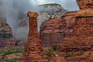 Boynton Canyon, morning fog, Coconino National Forest, Sedona, Arizona,
