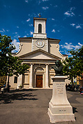Eglise Sainte-Croix, place du Marche, Carouge, Geneva, Switerland.