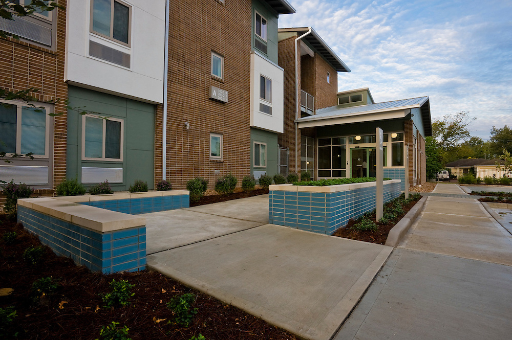 Photograph of the New Hope Housing Perry Street Development, an SRO community opened in October 2012