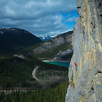 Alik Berg Rock Climbing 5.12 Barrier Mountain Kananaskis