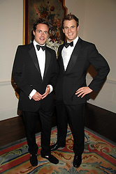 Left to right, HENRY DEEDES and GUY ADAMS at a pub style quiz night in aid of Rapt at Willaim Kent House, The Ritz, London on 25th June 2006.  The questions were composed by Judith Keppel and the winning team won £1000 to donate to a charity of their choice.<br /><br />NON EXCLUSIVE - WORLD RIGHTS