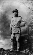 Theodore D. Roosevelt (1858-1919) 26th President of the United States of America (1901-1909). In 1898 in Spanish-American War as Colonel of First US Volunteer Cavalry Regiment 'Rough Riders' which he formed.