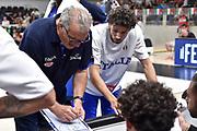 Meo Sacchetti ,  time out <br /> Nazionale Italiana Maschile Senior - Trentino Basket Cup 2019<br /> Italia Italy Romania Romania<br /> FIP 2019<br /> Trento, 30/07/2019<br /> Foto GiulioCiamillo / Ciamillo