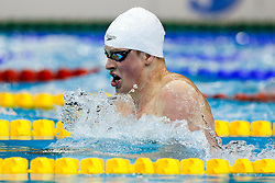 Adam Peaty of Great Britain in action on his way to winning Gold in the Mens 100m Breaststroke Final - Photo mandatory by-line: Rogan Thomson/JMP - 07966 386802 - 19/08/2014 - SPORT - SWIMMING - Berlin, Germany - Velodrom im Europa-Sportpark - 32nd LEN European Swimming Championships 2014 - Day 7.