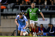 SYDNEY, AUSTRALIA - AUGUST 21: Marconi Stallions player Liam Youlley (16) knocks over Melbourne City player Craig Noone (11)  during the FFA Cup round of 16 soccer match between Marconi Stallions FC and Melbourne City FC on August 21, 2019 at Marconi Stadium in Sydney, Australia. (Photo by Speed Media/Icon Sportswire)