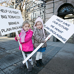 pre-school anti tobacco protest