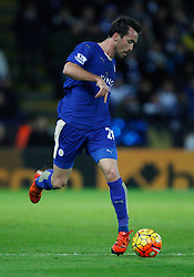 Christian Fuchs of Leicester City in action  - Mandatory byline: Jack Phillips/JMP - 07966386802 - 28/11/2015 - SPORT - FOOTBALL - Leicester - King Power Stadium - Leicester City v Manchester United - Barclays Premier League