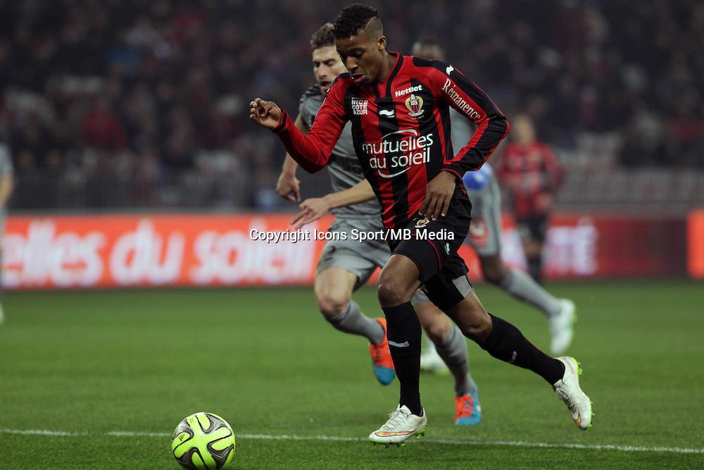 Baptiste ALOE / Alassane PLEA  - 23.01.2015 - Nice / Marseille - 22eme journee de Ligue 1<br />Photo : Jean Christophe Magnenet / Icon Sport