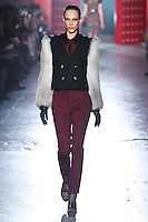 Aymeline Valade walks down runway for F2012 Jason Wu's collection in Mercedes Benz fashion week in New York on Feb 10, 2012 NYC