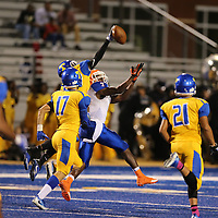 Tupelo defensive back Jalen Sparkman knocks away a pass in the second quarter against Southaven Friday night.