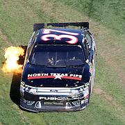 Sprint Cup Series driver Robert Richardson Jr. (37) comes to a stop at Daytona International Speedway on February 20, 2011 in Daytona Beach, Florida. (AP Photo/Alex Menendez)