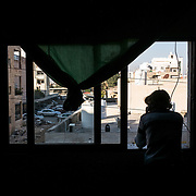Picture taken on december 22nd 2013 of a syrian refugee in her appartment in Irbid.