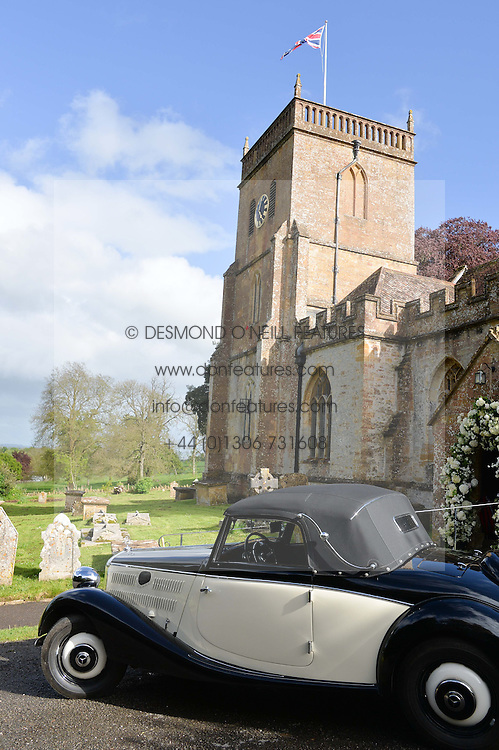 Atmosphere at the wedding of Princess Florence von Preussen second daughter of Prince Nicholas von Preussen to the Hon.James Tollemache youngest son of the 5th Lord Tollemache held at the Church of St.Michael & All Angels, East Coker, Somerset on 10th May 2014.