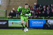 Forest Green Rovers Liam Kitching(20) during the EFL Sky Bet League 2 match between Forest Green Rovers and Swindon Town at the New Lawn, Forest Green, United Kingdom on 21 December 2019.