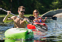 Corey and Janelle kayaking on Lake Wicwas July 1, 2012.