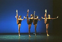 "Dance Theatre of Harlem in George Balanchine's ""Four Temperaments""."