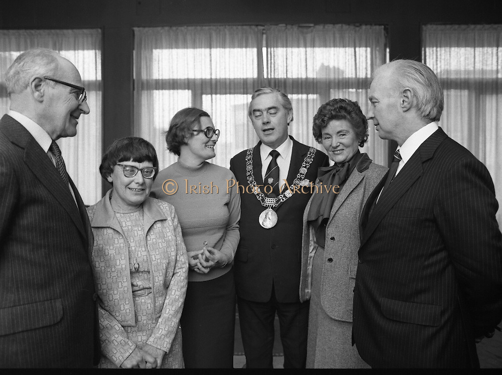People Of The Year Awards.    (N74).1981..05.05.1981..5th May 1981..Dr Michael Woods TD,Minister for Health & Social Welfare, today presented 73 People of The Year Lapel Emblems at an official ceremony in the New Ireland Assurance Co., Ltd, Dawson Street, Dublin. The lapel emblems were created as a result of recipients of the awards seeking to promote their work by identifying with the awards. It is intended that future recipients of The People Of The Year Awards silver medallions would also receive a lapel emblem..Pictured at the award ceremony..Unfortunately we do not have a caption sheet. If you know the people involved why not let us know at irishphotoarchive@gmail.com