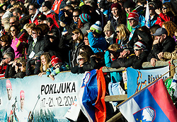 Spectators during Men 12,5 km Pursuit at day 3 of IBU Biathlon World Cup 2014/2015 Pokljuka, on December 20, 2014 in Rudno polje, Pokljuka, Slovenia. Photo by Vid Ponikvar / Sportida