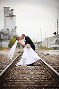 Wedding photograph taken at Railroad Tracks in Jerseyville, Illinois. Photography by Will Rice and Eight One Seven Photography September 15, 2012.