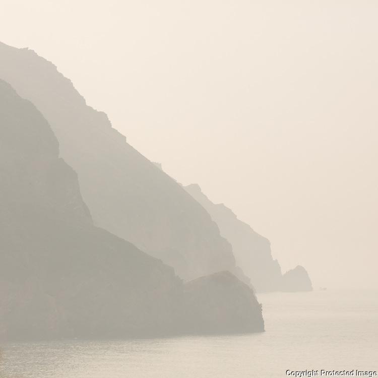 Cliffs at Woody Bay, Exmoor, Devon.