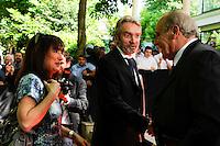Frederic THIRIEZ et sa compagne  - 17.05.2015 - Ceremonie des Trophees UNFP 2015<br /> Photo : Nolwenn Le Gouic / Icon Sport