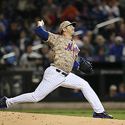 Pitcher Matt Harvey, New York Mets, pitching during the New York Mets Vs St. Louis Cardinals MLB regular season baseball game at Citi Field, Queens, New York. USA. 16th May 2015. Photo Tim Clayton