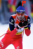 ◊Copyright:<br />GEPA pictures<br />◊Photographer:<br />Thomas Karner<br />◊Name:<br />Bjoerndalen<br />◊Rubric:<br />Sport<br />◊Type:<br />Ski nordisch, Biathlon<br />◊Event:<br />Biathlon Weltcup, Staffelwettkampf Maenner 10km<br />◊Site:<br />Ruhpolding, Deutschland<br />◊Date:<br />15/01/05<br />◊Description:<br />Ole Einar Bjoerndalen (NOR)<br />◊Archive:<br />DCSTK-1501054008<br />◊RegDate:<br />15.01.2005<br />◊Note:<br />8 MB - MP/MP - Nutzungshinweis: Es gelten unsere Allgemeinen Geschaeftsbedingungen (AGB) bzw. Sondervereinbarungen in schriftlicher Form. Die AGB finden Sie auf www.GEPA-pictures.com.<br />Use of picture only according to written agreements or to our business terms as shown on our website www.GEPA-pictures.com.