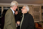 GILLON AITKEN; Faroukh Dhondy; , Aatish Taseer  book launch party for his new book Stranger To History. Travel book asks what it means to be a Muslim in the 21st century. Hosted by Gillon Aitken. Kensington, London. 30 March 2009