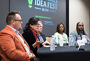Mary Bottari, center left, speaks during the Cap Times Idea Fest 2018 at the Pyle Center in Madison, Wisconsin, Saturday, Sept. 29, 2018.