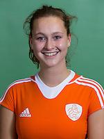 DELFT - Elsie Nix. Nederlands zaalhockeyteam dames voor EK in Minsk. COPYRIGHT KOEN SUYK