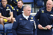 Leeds Manager Steve Evans during the Sky Bet Championship match between Preston North End and Leeds United at Deepdale, Preston, England on 7 May 2016. Photo by Pete Burns.