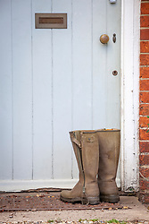 Pair of Le Chameau boots taken off by back door