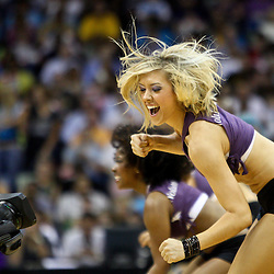 April 8, 2011; New Orleans, LA, USA; A New Orleans Hornets Honeybees dancer performs during the fourth quarter of a game against the Phoenix Suns at the New Orleans Arena. The Hornets defeated the Suns 109-97.   Mandatory Credit: Derick E. Hingle