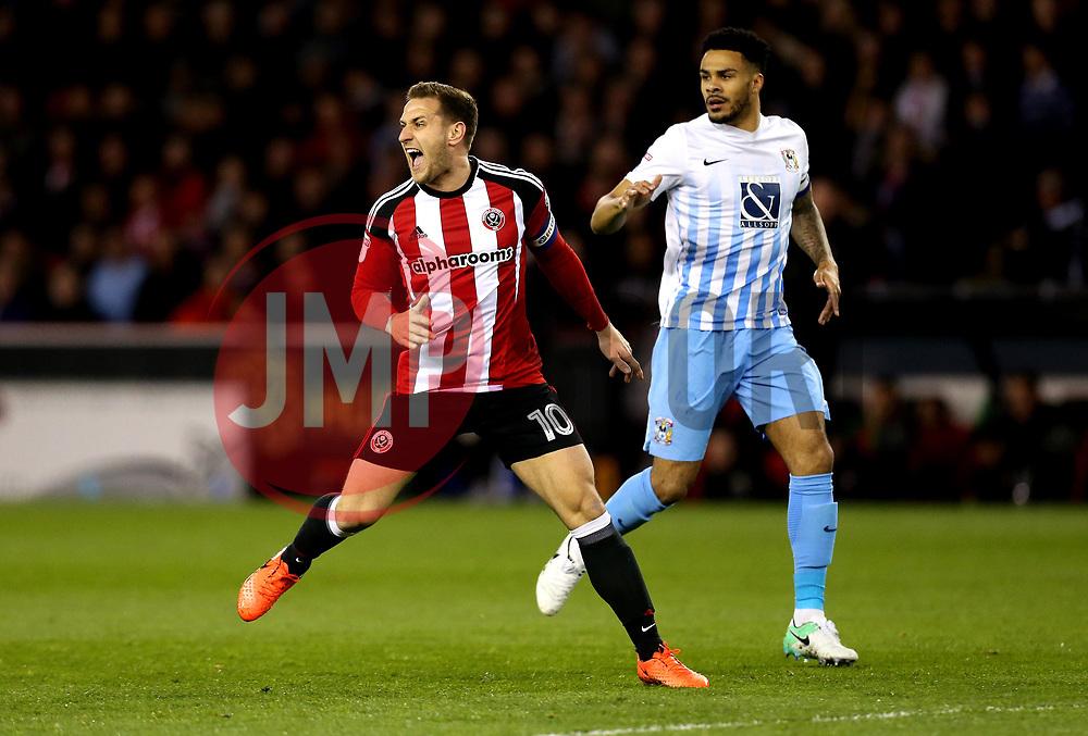 Billy Sharp of Sheffield United - Mandatory by-line: Robbie Stephenson/JMP - 05/04/2017 - FOOTBALL - Brammall Lane - Sheffield, England - Sheffield United v Coventry City - Sky Bet League One