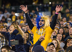 Oct 22, 2016; Morgantown, WV, USA; West Virginia Mountaineers fans celebrate after beating the TCU Horned Frogs at Milan Puskar Stadium. Mandatory Credit: Ben Queen-USA TODAY Sports