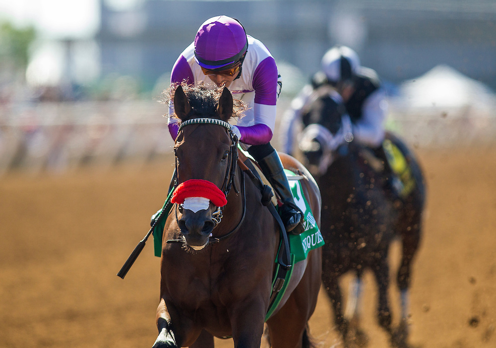 August 8 2015: Nyquist with Mario Gutierrez wins the Best Pal Stake at  Del Mar Race Course in Del Mar CA. Alex Evers/ESW/CSM