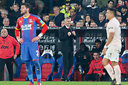 GOAL - Manchester United interim Manager Ole Gunnar Solskjaer celebrates 0-2 during the Premier League match between Crystal Palace and Manchester United at Selhurst Park, London, England on 27 February 2019.