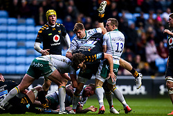 Michael Le Bourgeois of Wasps is tackled by Rory Hutchinson of Northampton Saints - Mandatory by-line: Robbie Stephenson/JMP - 05/01/2020 - RUGBY - Ricoh Arena - Coventry, England - Wasps v Northampton Saints - Gallagher Premiership Rugby