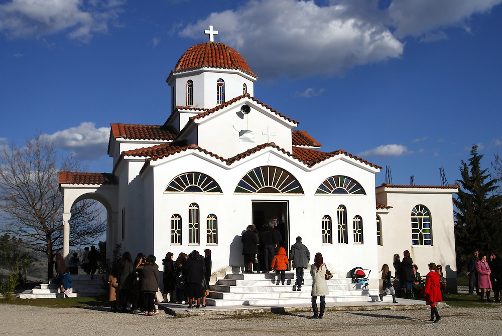 A religious ceremony at Vlahogianni village near the town of Elassona. Thessaly region, central Greece.