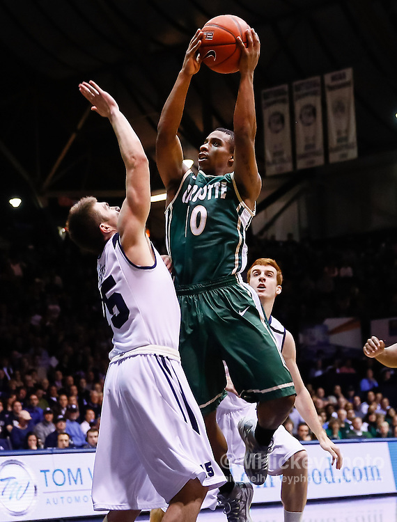 INDIANAPOLIS, IN - FEBRUARY 13: Denzel Ingram #10 of the Charlotte 49ers shoots the ball against Rotnei Clarke #15 of the Butler Bulldogs at Hinkle Fieldhouse on February 13, 2013 in Indianapolis, Indiana. Charlotte defeated Butler 71-67. (Photo by Michael Hickey/Getty Images) *** Local Caption *** Denzel Ingram; Rotnei Clarke