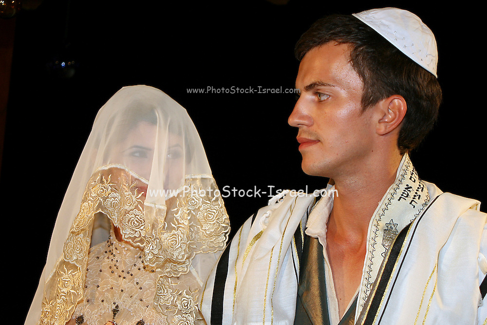 bride and groom at the wedding ceremony