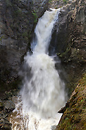Fintry Falls on Shorts Creek in Fintry Provincial Park in British Columbia, Canada