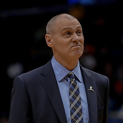 Dec 29, 2017; New Orleans, LA, USA; Dallas Mavericks head coach Rick Carlisle against the New Orleans Pelicans during the first quarter at the Smoothie King Center. Mandatory Credit: Derick E. Hingle-USA TODAY Sports