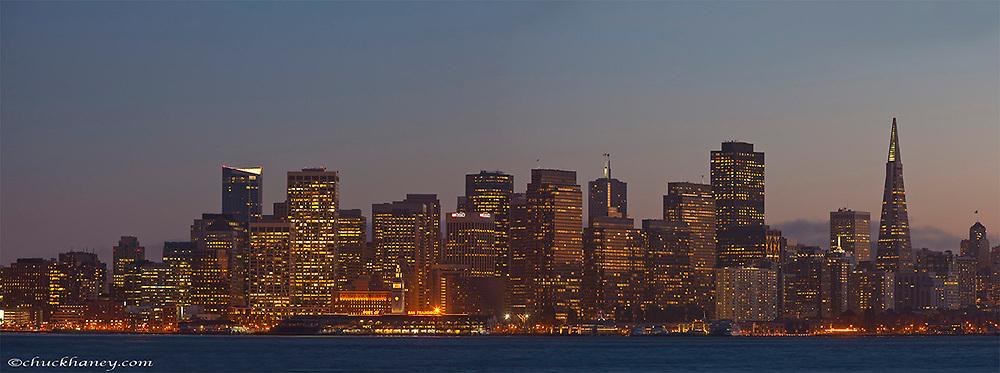 Paqnoramic of the skyline of San Francisco, California, USA