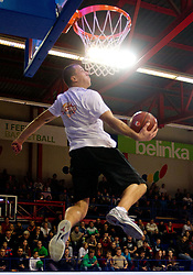 Alen Blesic during Slovenian basketball All Stars Domzale 2012 event, on January 2, 2012 in Hala Komunalnega centra, Domzale, Slovenia.  (Photo By Vid Ponikvar / Sportida.com)