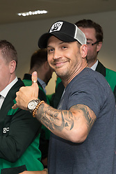 September 11, 2018 - London, London, UK - London, UK.  Tom Hardy at the 14th Annual BGC Charity Day held on the trading floor of BGC Partners in Canary Wharf, to raise money for charitable causes in commemoration of BGC's 658 colleagues and the 61 Eurobrokers employees lost on 9/11. (Credit Image: © Vickie Flores/London News Pictures via ZUMA Wire)