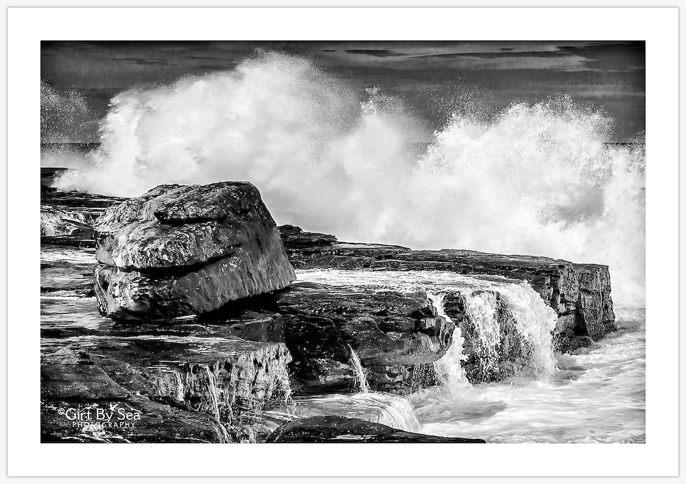 A dramatic scene near Mahon Pool, Maroubra as an east coast low pressure system hits the Sydney coast [Maroubra, NSW]<br />