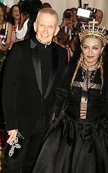 May 7, 2018 - New York City, New York, U.S. - MADONNA and designer JEAN-PAUL GAULTIER attend the Costume Institute Benefit celebrating the opening of Heavenly Bodies: Fashion and the Catholic Imagination exhibit held at at The Metropolitan Museum of Art. (Credit Image: © Nancy Kaszerman via ZUMA Wire)