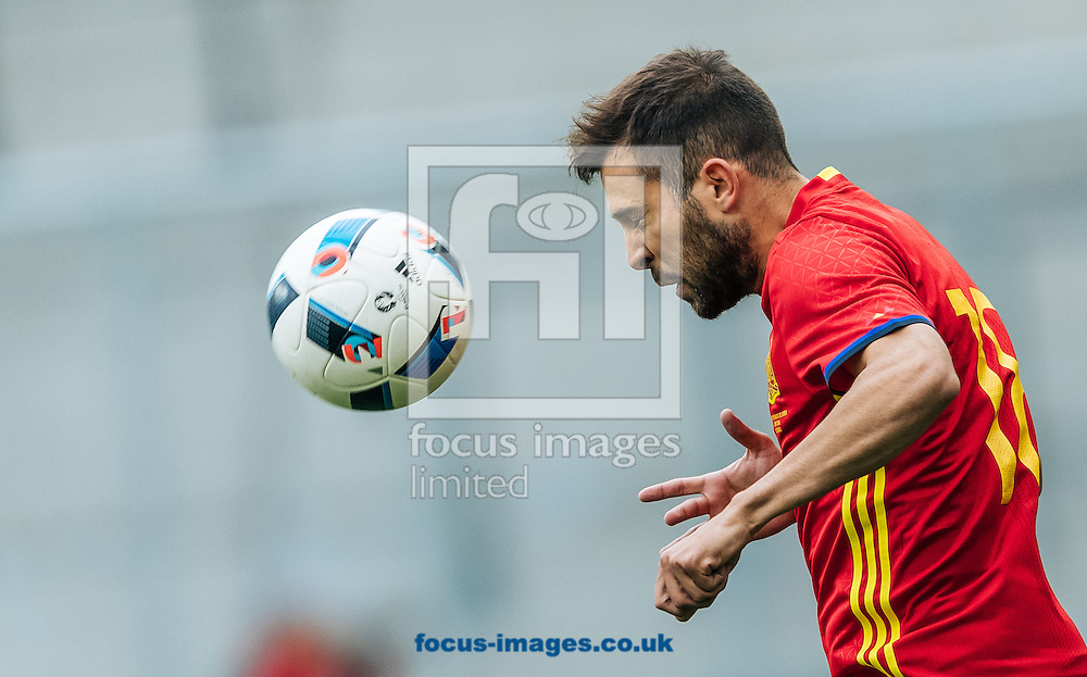 Jordi Alba of Spain during the International Friendly match at Red Bull Arena, Salzburg<br /> Picture by EXPA Pictures/Focus Images Ltd 07814482222<br /> 01/06/2016<br /> ***UK &amp; IRELAND ONLY***<br /> (filename}