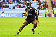 Wasps wing Christian Wade (14) runs with the ball during the Aviva Premiership match between Wasps and London Irish at the Ricoh Arena, Coventry, England on 4 March 2018. Picture by Dennis Goodwin.